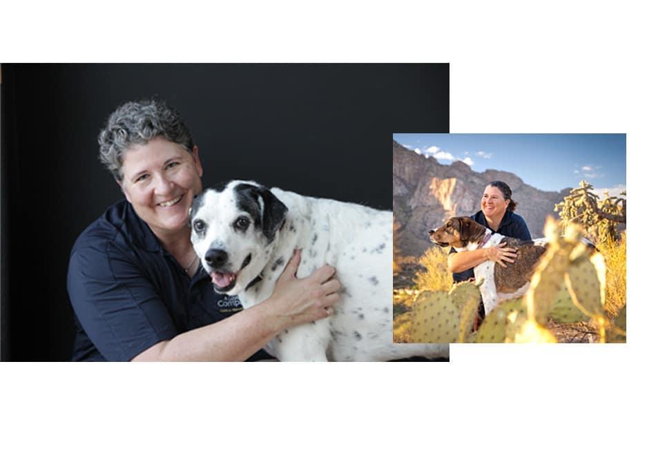 A Loyal Companion | Kate Titus with dog